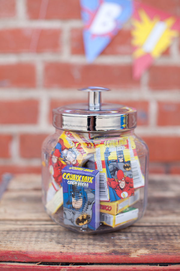 Vintage Superhero Birthday Party via Kara's Party Ideas | Kara'sPartyIdeas.com #vintage #superhero #birthday #party (9)