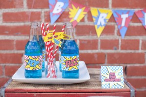 Vintage Superhero Birthday Party via Kara's Party Ideas | Kara'sPartyIdeas.com #vintage #superhero #birthday #party (8)