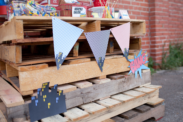 Vintage Superhero Birthday Party via Kara's Party Ideas | Kara'sPartyIdeas.com #vintage #superhero #birthday #party (24)