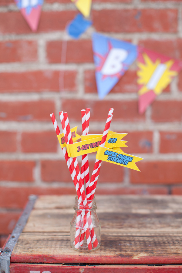 Vintage Superhero Birthday Party via Kara's Party Ideas | Kara'sPartyIdeas.com #vintage #superhero #birthday #party (6)