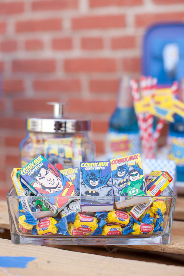 Vintage Superhero Birthday Party via Kara's Party Ideas | Kara'sPartyIdeas.com #vintage #superhero #birthday #party (22)
