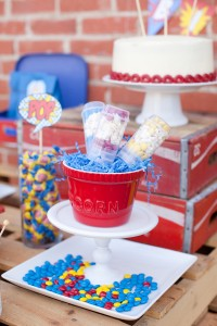 Vintage Superhero Birthday Party via Kara's Party Ideas | Kara'sPartyIdeas.com #vintage #superhero #birthday #party (21)