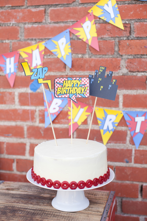 Vintage Superhero Birthday Party via Kara's Party Ideas | Kara'sPartyIdeas.com #vintage #superhero #birthday #party (19)
