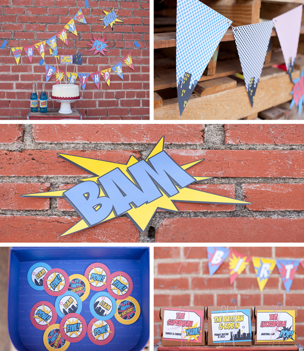 Vintage Superhero Birthday Party via Kara's Party Ideas | Kara'sPartyIdeas.com #vintage #superhero #birthday #party (1)