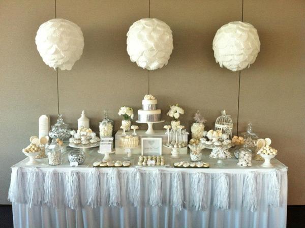 Karas Party Ideas White And Silver Wedding Via Karas