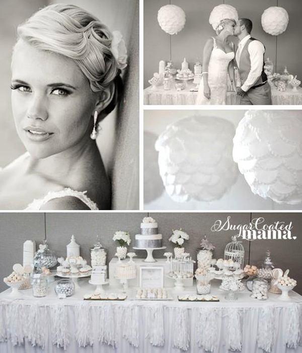 White and Silver Wedding via Kara's Party Ideas | Kara'sPartyIdeas.com #white #silver #wedding (26)