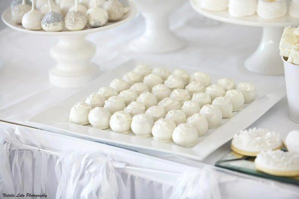 Karas Party Ideas White Silver Wedding Karas Party Ideas