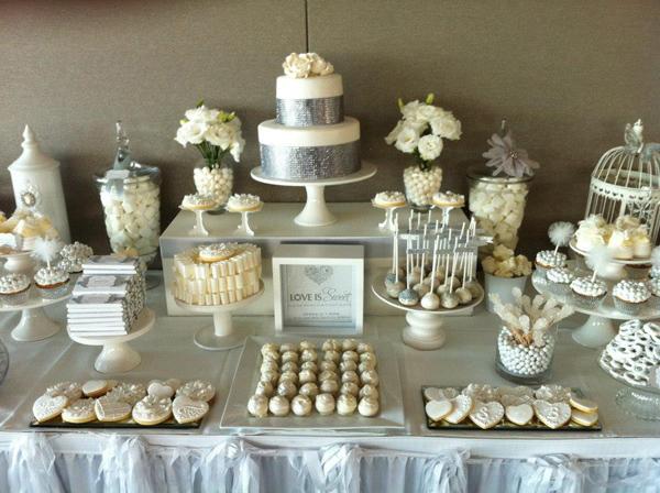 Kara S Party Ideas White And Silver Wedding Via