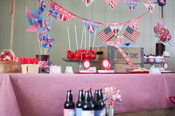County Fair Patriotic Picnic Party via Kara's Party Ideas | KarasPartyIdeas.com #county #fair #vintage #patriotic #picnic #july #fourth #4th #independence #memorial #day #party #ideas (24)