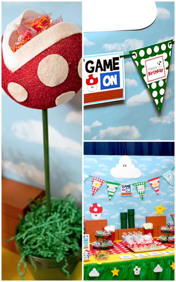 Mario Gamer Party via Kara's Party Ideas | KarasPartyIdeas.com #mario #boy #video #game #gamer #party #ideas (4)