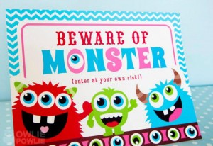 Girly Monster Baby Shower via KarasPartyIdeas.com #monster #baby #shower #girl #idea #planning (7)