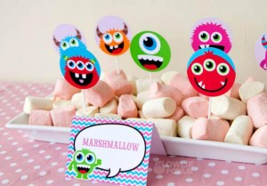 Girly Monster Baby Shower via KarasPartyIdeas.com #monster #baby #shower #girl #idea #planning (4)