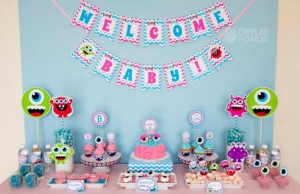 Girly Monster Baby Shower via KarasPartyIdeas.com #monster #baby #shower #girl #idea #planning (3)