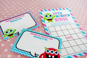 Girly Monster Baby Shower via KarasPartyIdeas.com #monster #baby #shower #girl #idea #planning (1)