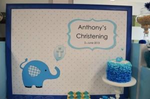Blue Elephant Christening Party via Kara's Party Ideas | KarasPartyIdeas.com #blue #elephant #boy #christening #baptism #party #ideas (20)
