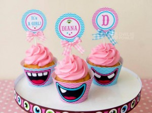 Girly Monster Baby Shower via KarasPartyIdeas.com #monster #baby #shower #girl #idea #planning (17)