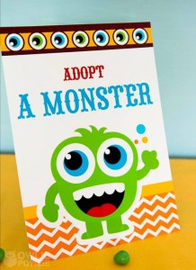 Colorful Monster Party via KarasPartyIdeas.com #MonsterParty #boy #monster #party #idea (16)