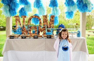 Cookie Monster Party via Kara's Party Ideas | KarasPartyIdeas.com #chic #girl #blue #DIY #cookie #monster #party #ideas (37)