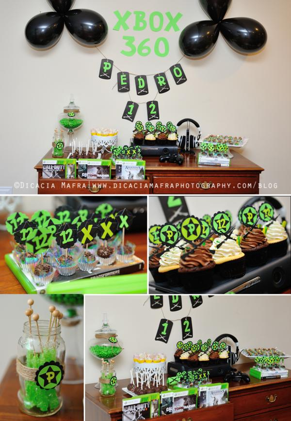 This Unique XBOX THEMED TWELFTH BIRTHDAY PARTY Was Submitted By Ana Carolina Of Carol BR Party