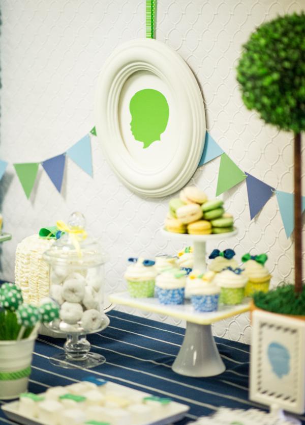 Kara S Party Ideas Silhouette Inspired Boy Little Man 1st Birthday Party Planning Ideas
