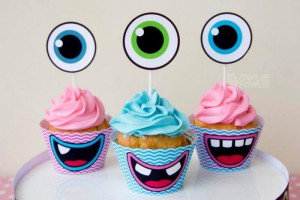Girly Monster Baby Shower via KarasPartyIdeas.com #monster #baby #shower #girl #idea #planning (16)