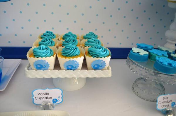 Blue Elephant Christening Party via Kara's Party Ideas | KarasPartyIdeas.com #blue #elephant #boy #christening #baptism #party #ideas (21)