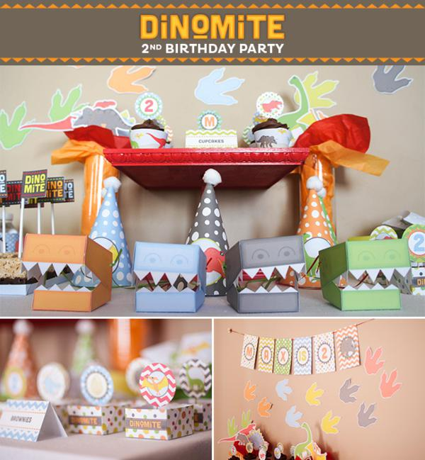 Dinosaur DinoMite 2nd Birthday Party