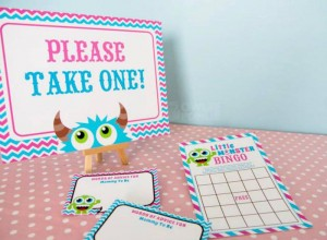 Girly Monster Baby Shower via KarasPartyIdeas.com #monster #baby #shower #girl #idea #planning (14)