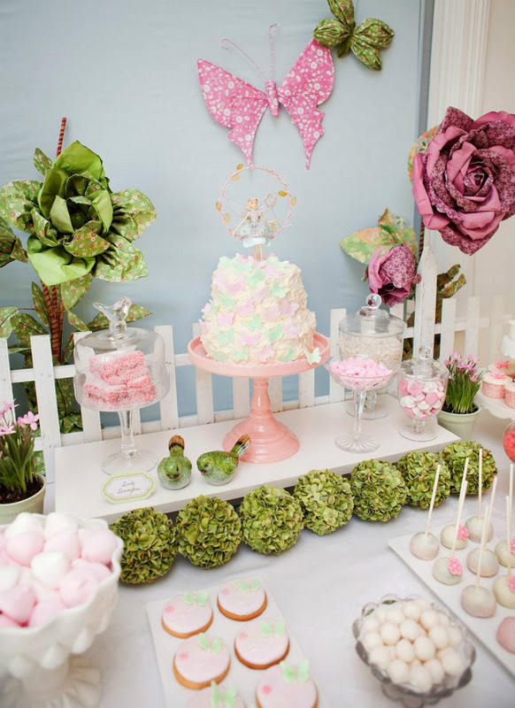 Kara S Party Ideas Fairy Garden 3rd Birthday Butterfly Party