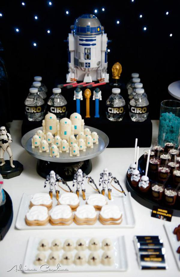 Karas Party Ideas Star Wars Boy Yoda Darth Vader Space Birthday