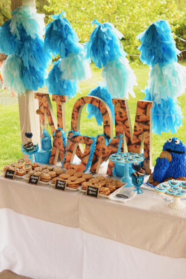 Cookie Monster Party via Kara's Party Ideas | KarasPartyIdeas.com #chic #girl #blue #DIY #cookie #monster #party #ideas (32)
