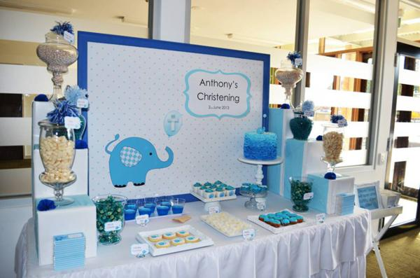 Blue Elephant Christening Party via Kara's Party Ideas | KarasPartyIdeas.com #blue #elephant #boy #christening #baptism #party #ideas (15)