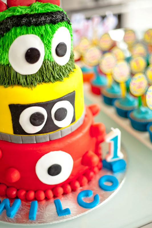 Kara S Party Ideas Yo Gabba Gabba 1st Birthday Monster