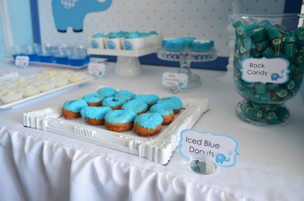 Blue Elephant Christening Party via Kara's Party Ideas | KarasPartyIdeas.com #blue #elephant #boy #christening #baptism #party #ideas (14)