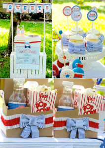 4th of July Seersucker themed backyard party with TONS of cute ideas!! Via Kara's Party Ideas | KarasPartyIdeas.com #4th #july #seersucker #themed #party #bbq #backyard #ideas #favor #celebration #supplies #decor #idea