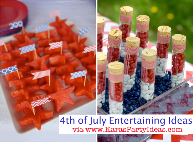 4th of july recipes entertaining decorations party ideas treats red white blue stars supplies