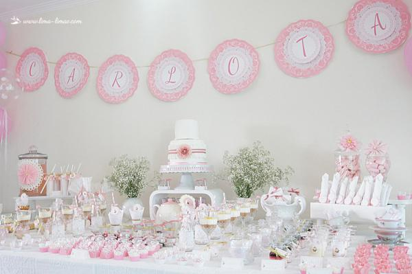 Karas Party Ideas 1st Birthday Girl Vintage Shabby Chic Tea Planning
