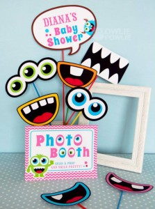 Girly Monster Baby Shower via KarasPartyIdeas.com #monster #baby #shower #girl #idea #planning (13)
