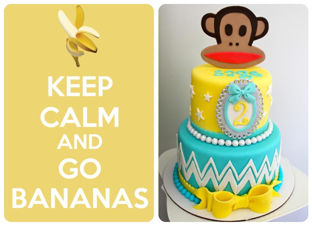 Karas Party Ideas Paul Frank Keep Calm Go Bananas Monkey