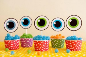 Colorful Monster Party via KarasPartyIdeas.com #MonsterParty #boy #monster #party #idea (19)