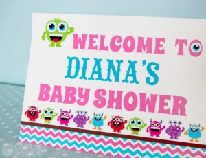 Girly Monster Baby Shower via KarasPartyIdeas.com #monster #baby #shower #girl #idea #planning (19)