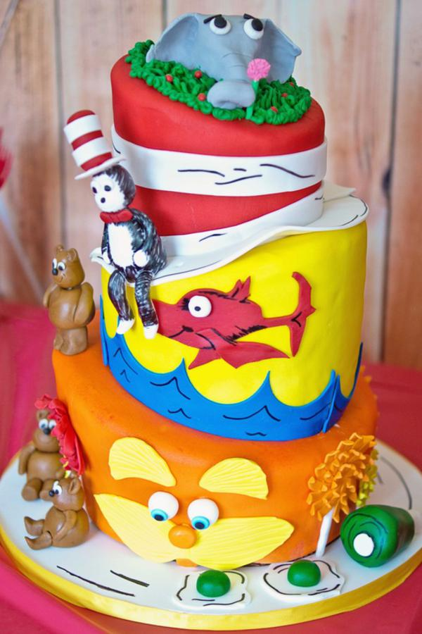 Swell Karas Party Ideas Dr Seuss Themed Birthday Party Karas Party Funny Birthday Cards Online Aboleapandamsfinfo