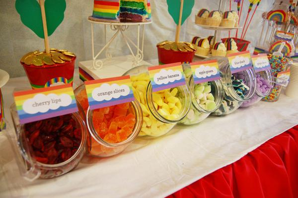 Rainbow Birthday Party via Kara's Party Ideas | KarasPartyIdeas.com #rainbow #1st #first #girl #birthday #party #ideas (5)