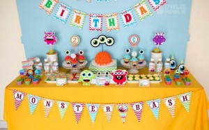 Colorful Monster Party via KarasPartyIdeas.com #MonsterParty #boy #monster #party #idea (17)