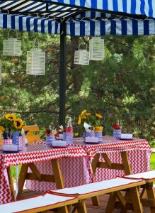 4th of July Party via Kara's Party Ideas #outdoor #patriotic #July #4th (17)