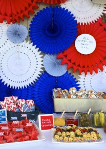 4th of July Party via Kara's Party Ideas #outdoor #patriotic #July #4th (12)