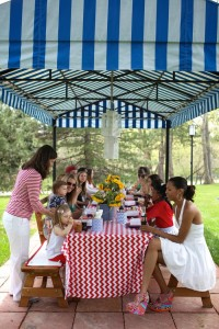 4th of July Party via Kara's Party Ideas #outdoor #patriotic #July #4th (10)