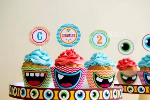 Colorful Monster Party via KarasPartyIdeas.com #MonsterParty #boy #monster #party #idea (14)