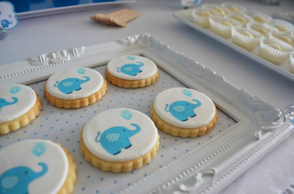 Blue Elephant Christening Party via Kara's Party Ideas | KarasPartyIdeas.com #blue #elephant #boy #christening #baptism #party #ideas (10)