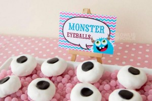 Girly Monster Baby Shower via KarasPartyIdeas.com #monster #baby #shower #girl #idea #planning (12)